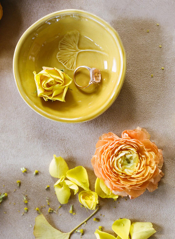 Orange and yellow wedding palette; St. Louis Fine Art Film Wedding Photographer Erica Robnett Photography