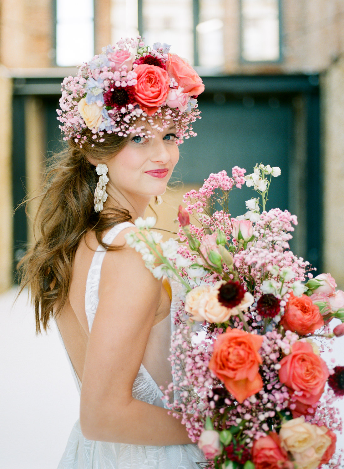 Whimsical Coral Wedding Inspiration Erica Robnett Photography